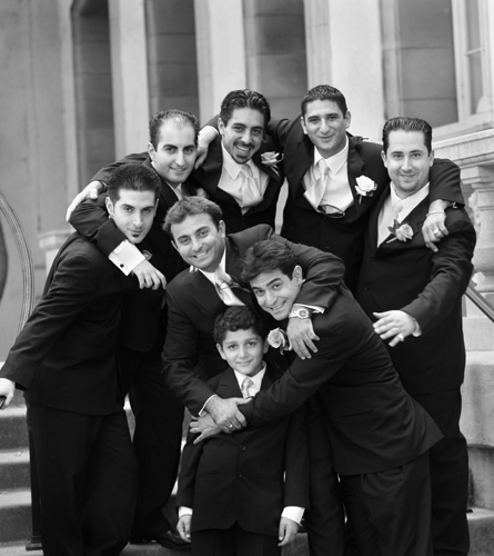 groomsmen at a wedding by temecula wedding photographer heather van gaale